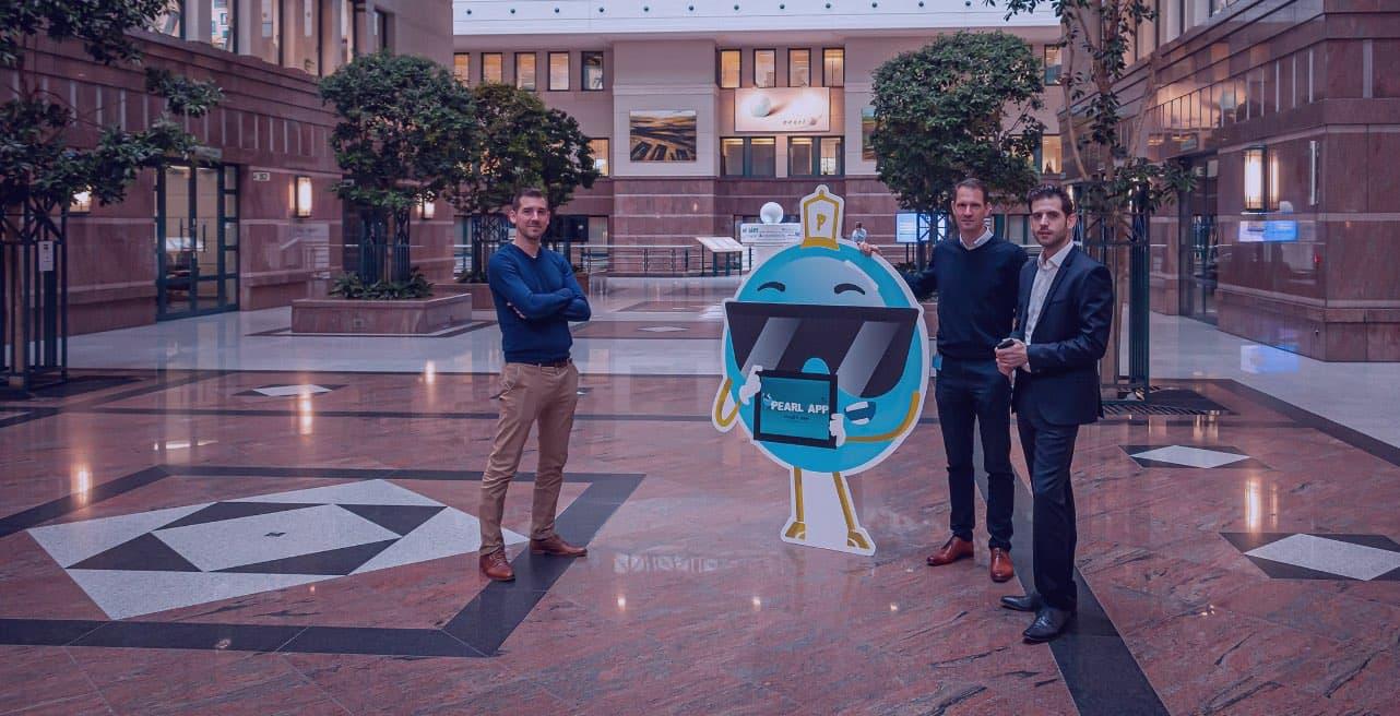Luca & Kurt van Codrigo tijdens het interview met Stefan Garaleas, Head of Corporate Culture & Change bij KBC.